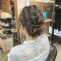 結婚式 ナチュラル ヘアアレンジ 成人式 ヘアスタイルや髪型の写真・画像