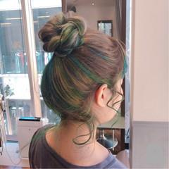 外国人風 ロング ブリーチ ストリート ヘアスタイルや髪型の写真・画像