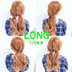 上品 ヘアアレンジ ロング デート ヘアスタイルや髪型の写真・画像