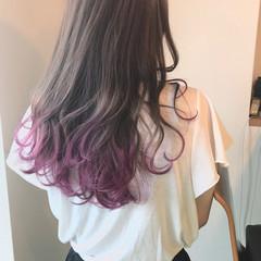 大人かわいい ストリート カラーバター ベリーピンク ヘアスタイルや髪型の写真・画像