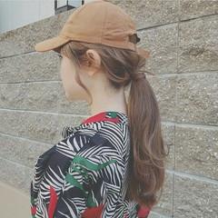 フェミニン スポーツ ゆるふわ 大人かわいい ヘアスタイルや髪型の写真・画像