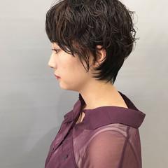 モード ベリーショート ショートボブ 大人ショート ヘアスタイルや髪型の写真・画像