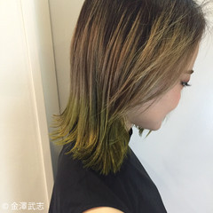 外国人風 ストリート ボブ グラデーションカラー ヘアスタイルや髪型の写真・画像