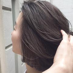 モード ラベンダーカラー ラベンダーアッシュ バイオレット ヘアスタイルや髪型の写真・画像