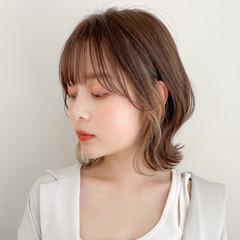 ミニボブ 大人かわいい 外ハネボブ フェミニン ヘアスタイルや髪型の写真・画像