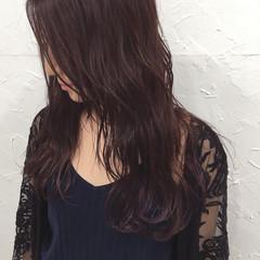 ウェーブ 外国人風 パープル 波ウェーブ ヘアスタイルや髪型の写真・画像