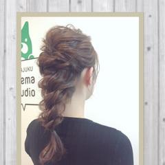 ロング 編み込み 大人かわいい ゆるふわ ヘアスタイルや髪型の写真・画像