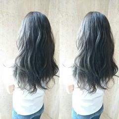 ハロウィン セミロング グレージュ フェミニン ヘアスタイルや髪型の写真・画像