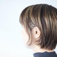 大人ハイライト ハイライト 極細ハイライト コントラストハイライト ヘアスタイルや髪型の写真・画像