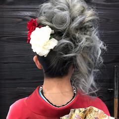 ヘアアレンジ 成人式 ガーリー ロング ヘアスタイルや髪型の写真・画像