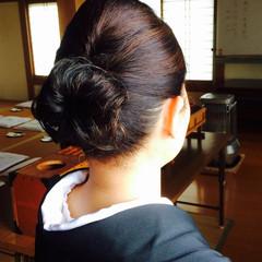 黒髪 大人かわいい 丸顔 ヘアアレンジ ヘアスタイルや髪型の写真・画像