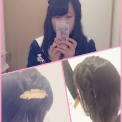 簡単ヘアアレンジ 時短 ガーリー 学校 ヘアスタイルや髪型の写真・画像