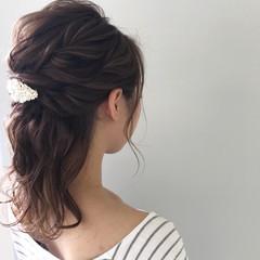 結婚式 ナチュラル ヘアアレンジ エフォートレス ヘアスタイルや髪型の写真・画像