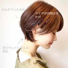 ヘアアレンジ ナチュラル ゆるふわ ショート ヘアスタイルや髪型の写真・画像