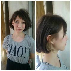 ボブ ストリート ハイライト 外国人風 ヘアスタイルや髪型の写真・画像