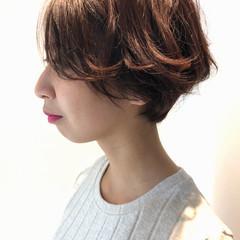 ハンサムショート アディクシーカラー 透明感 ナチュラル ヘアスタイルや髪型の写真・画像