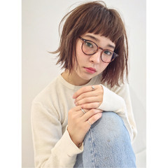 ピュア ワイドバング 前髪あり 外国人風 ヘアスタイルや髪型の写真・画像