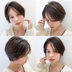 ショート ショートボブ ナチュラル 外国人風カラー ヘアスタイルや髪型の写真・画像