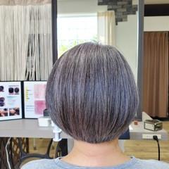 美髪 頭皮ケア 白髪染め ボブ ヘアスタイルや髪型の写真・画像