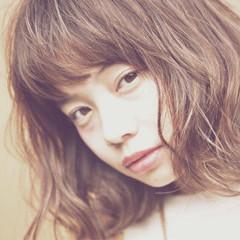 簡単ヘアアレンジ 丸顔 暗髪 ショート ヘアスタイルや髪型の写真・画像