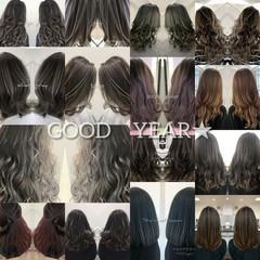 グラデーションカラー ナチュラル 派手髪 バレイヤージュ ヘアスタイルや髪型の写真・画像