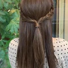 簡単ヘアアレンジ ロングヘア 360度どこからみても綺麗なロングヘア セミロング ヘアスタイルや髪型の写真・画像
