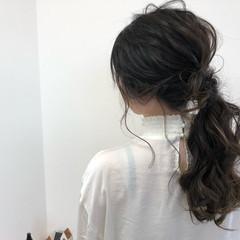 外国人風 上品 ヘアアレンジ セミロング ヘアスタイルや髪型の写真・画像