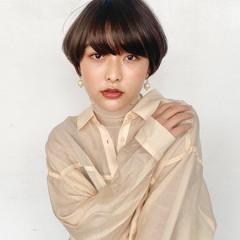 モテ髮シルエット ショートボブ ショートヘア ショート ヘアスタイルや髪型の写真・画像
