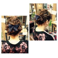 前髪あり ロング ゆるふわ ヘアアレンジ ヘアスタイルや髪型の写真・画像