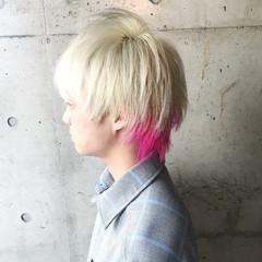ブリーチ ウルフカット ホワイトブリーチ ブリーチカラー ヘアスタイルや髪型の写真・画像
