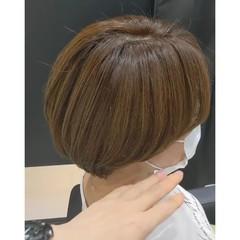 ナチュラル ショートヘア マッシュヘア 小顔ショート ヘアスタイルや髪型の写真・画像