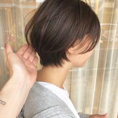 ショートボブ ショート ショートヘア 小顔ショート ヘアスタイルや髪型の写真・画像