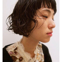外国人風 ボブ 大人女子 かわいい ヘアスタイルや髪型の写真・画像