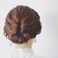 女子会 ヘアアレンジ デート 結婚式 ヘアスタイルや髪型の写真・画像