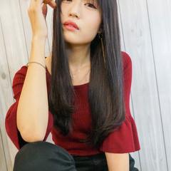 デート 透明感 ロング ナチュラル ヘアスタイルや髪型の写真・画像