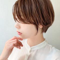 大人かわいい ショート ショートヘア ナチュラル ヘアスタイルや髪型の写真・画像