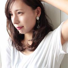 秋 外国人風カラー 上品 斜め前髪 ヘアスタイルや髪型の写真・画像