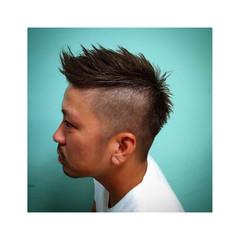 ヘアアレンジ 暗髪 メンズ ショート ヘアスタイルや髪型の写真・画像