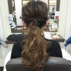 結婚式 ヘアアレンジ ポニーテール ショート ヘアスタイルや髪型の写真・画像