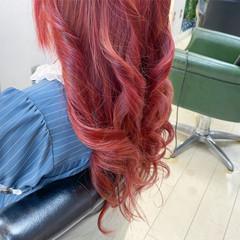 ベリーピンク ガーリー ブリーチ 韓国ヘア ヘアスタイルや髪型の写真・画像