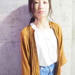 ミディアム 簡単ヘアアレンジ フェミニン ショート ヘアスタイルや髪型の写真・画像