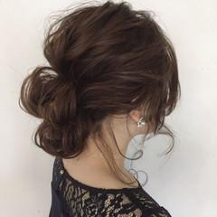 ナチュラル 結婚式 ミディアム 女子会 ヘアスタイルや髪型の写真・画像