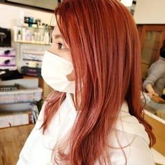 フェミニン ロング ピンク ピンクラベンダー ヘアスタイルや髪型の写真・画像