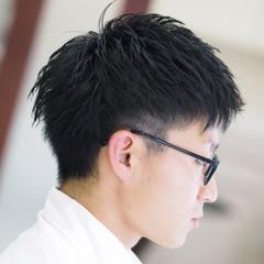 メンズ ショート ボーイッシュ 黒髪 ヘアスタイルや髪型の写真・画像