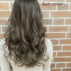 ロング アッシュ 外国人風 グラデーションカラー ヘアスタイルや髪型の写真・画像