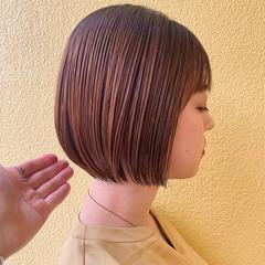 ショートボブ ミニボブ ボブ 切りっぱなしボブ ヘアスタイルや髪型の写真・画像