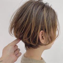 ナチュラル ショートボブ 大人ヘアスタイル ミニボブ ヘアスタイルや髪型の写真・画像