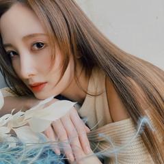 ロング 髪質改善 ミルクティーブラウン 横顔美人 ヘアスタイルや髪型の写真・画像