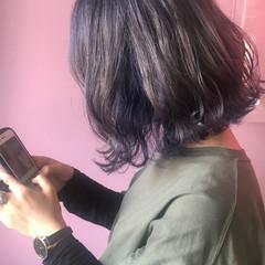 ストリート ボブ インナーカラー オルチャン ヘアスタイルや髪型の写真・画像