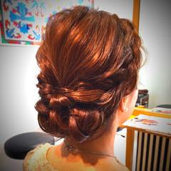 結婚式 アップスタイル ヘアアレンジ 編み込み ヘアスタイルや髪型の写真・画像